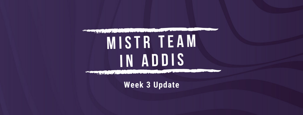 Mistr Team in Addis. Week 3 Update!