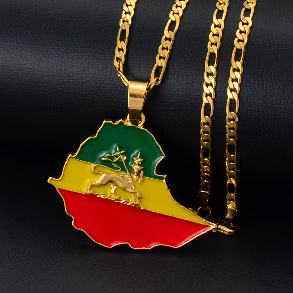 Map of Ethiopia Necklace