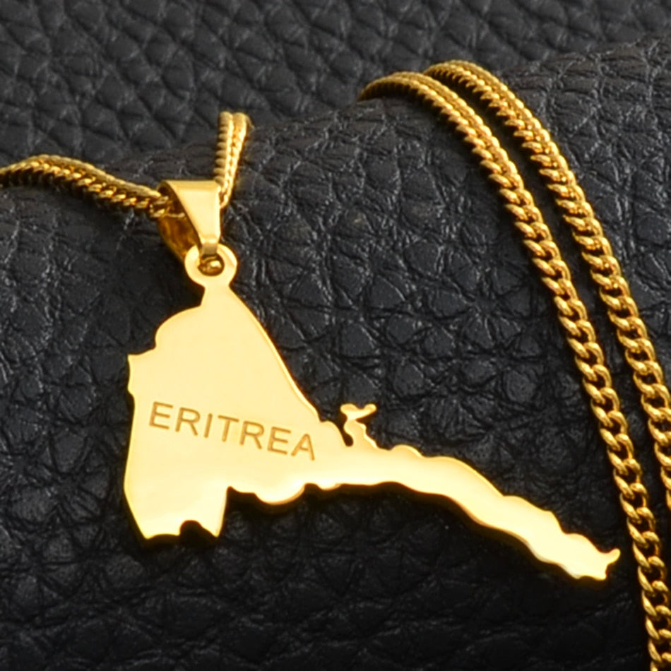 Map of Eritrea Necklace