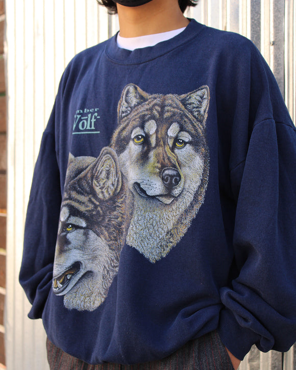 Vintage Timber Wolf Crew Neck Sweatshirt