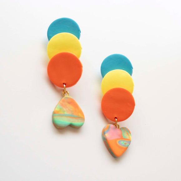 California Earrings (handcrafted clay earrings by Up to Your Ears)