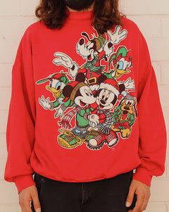 Vintage Mickey Mouse Club Christmas Sweater