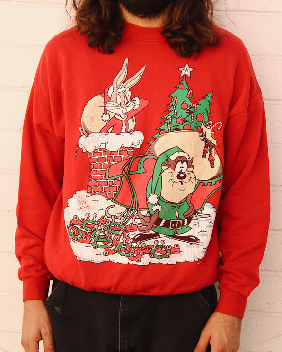 Vintage Looney Tunes Christmas Sweater