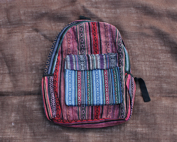 Striped Nepali Backpack