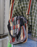 Striped Nepali Satchel