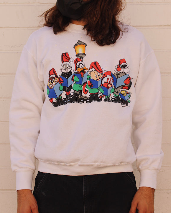Vintage Looney Tunes Carolers Christmas Sweater