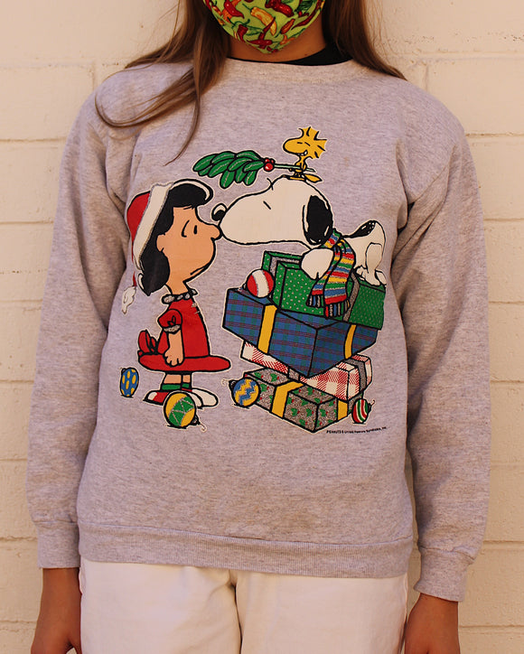 Vintage Snoopy and Lucy Christmas Sweater