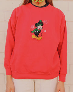Vintage Mickey Mouse Christmas Sweater