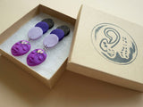 Mom Earrings (handcrafted clay earrings by Up to Your Ears)