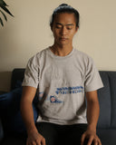 Full view of model wearing the shirt.