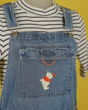 Vintage Winnie the Pooh Butterfly Overalls