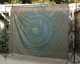 Green Hues Elephant/Camel Large Tapestry
