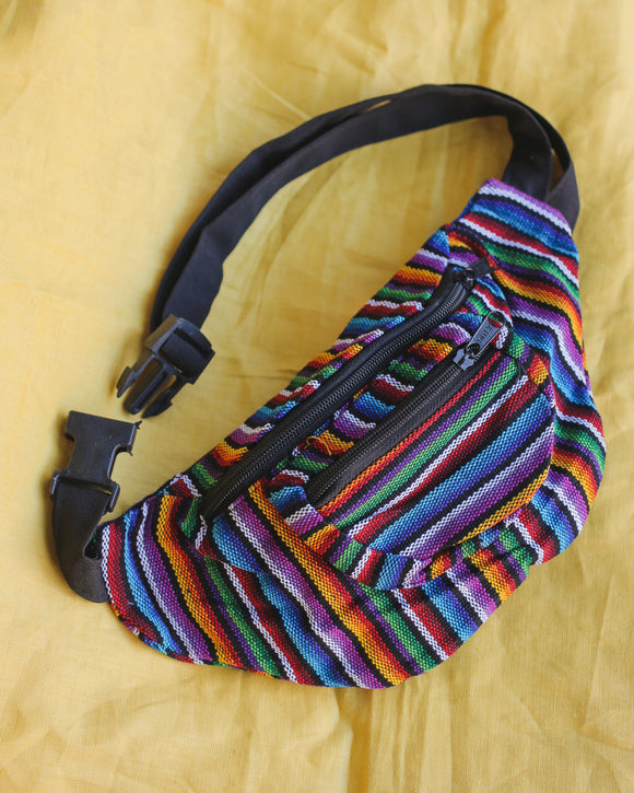 Striped Nepali Fanny Pack