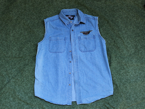 Harley Davidson Sleeveless Button-Up (Vintage)