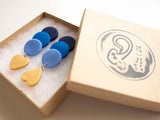 On a Blue Note Earrings (handcrafted clay earrings by Up to Your Ears)