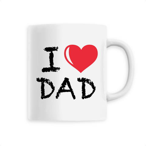 "Mug céramique "" I love DAD"""