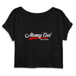 "Crop top ""Mumy Cool Since Forever"""