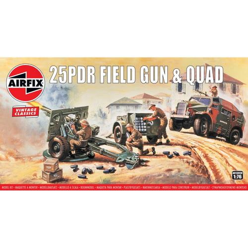 25PDR Field Gun & Quad  - A01305V -Available