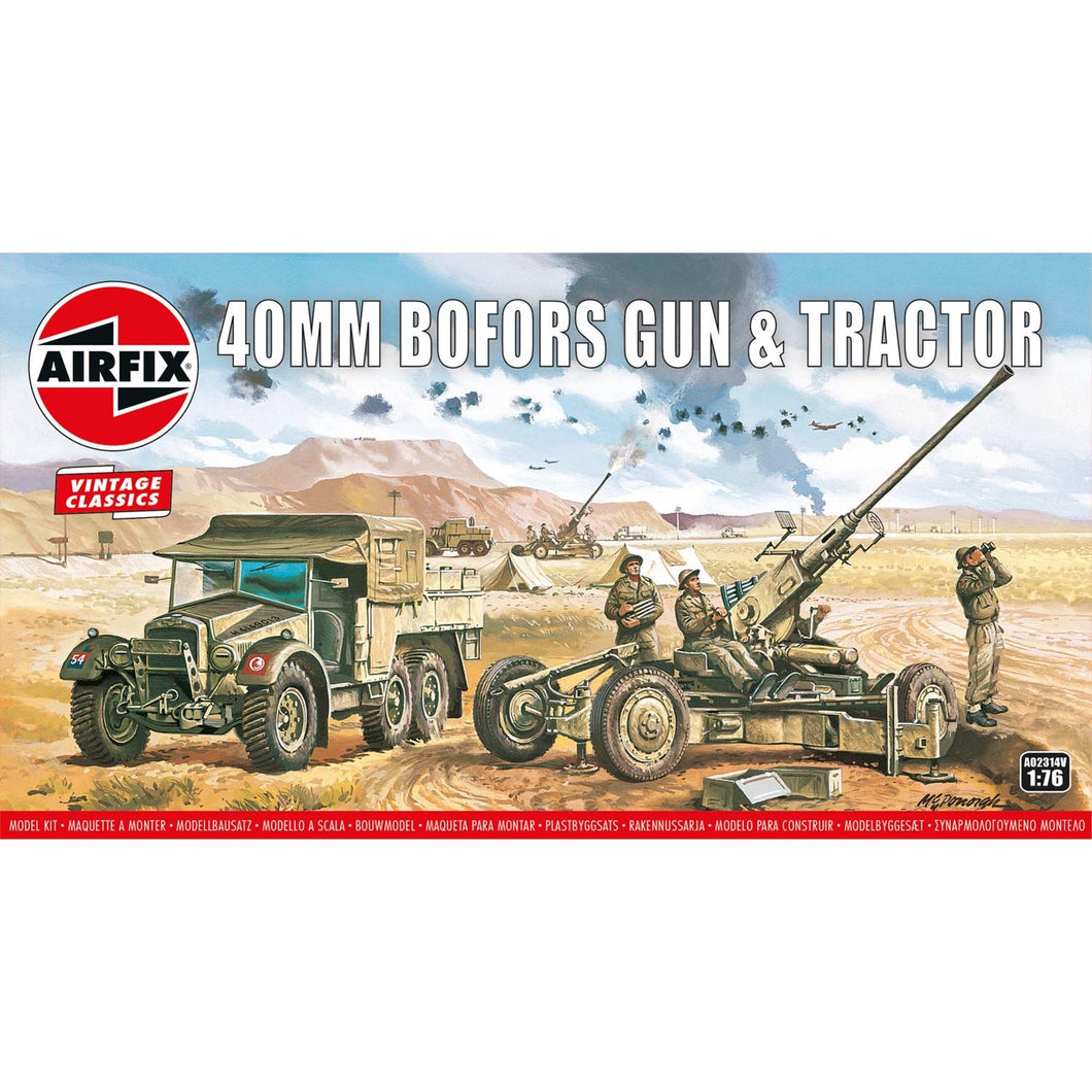 Bofors 40mm Gun & Tractor - A02314V -Available
