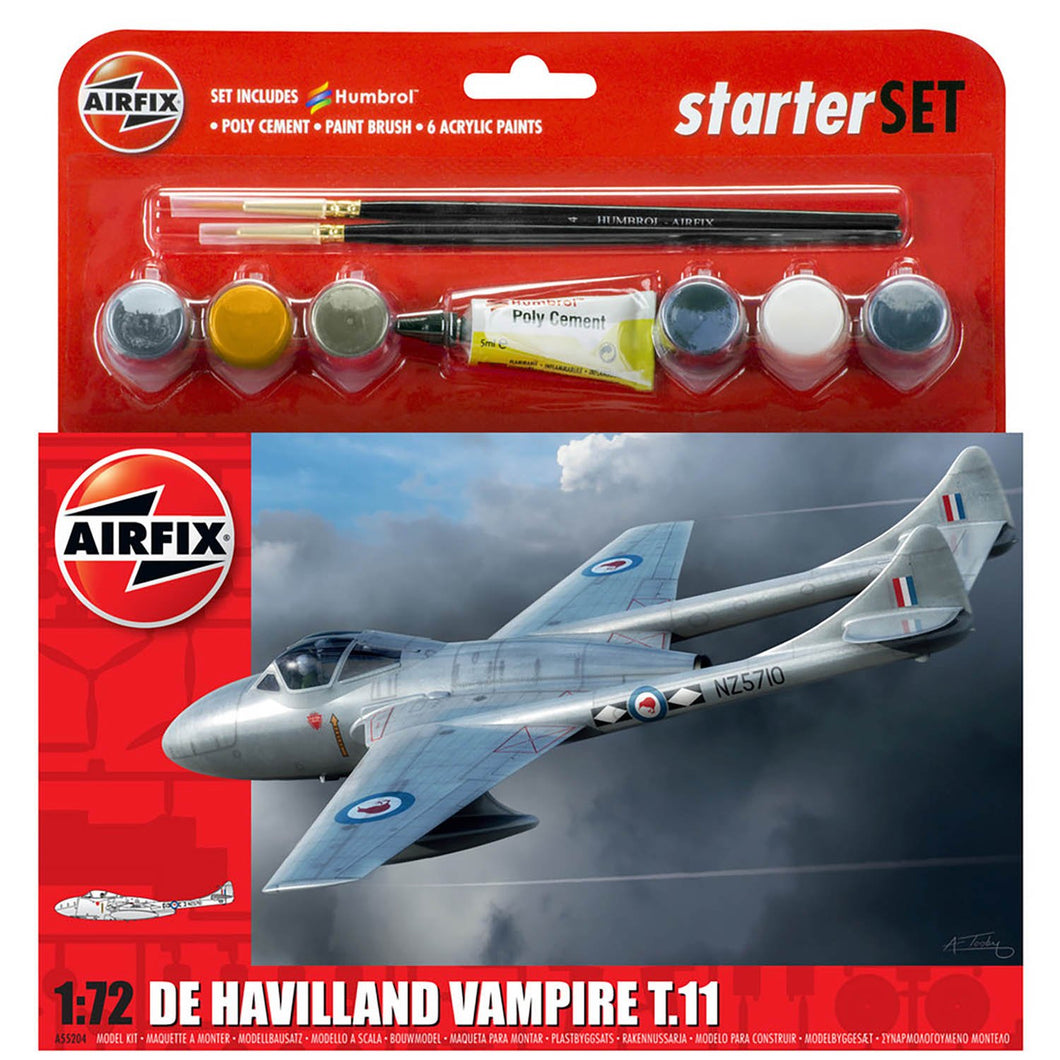 Medium Starter Set -de Havilland Vampire T.11 - A55204 -Available
