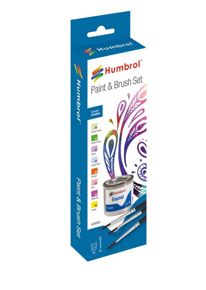 Enamel Paint and Brush Creative Set - AA9063 -Available