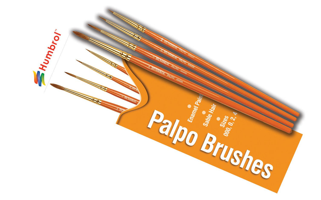 Brush Pack - Palpo 000, 0, 2, 4 - AG4250 -Available