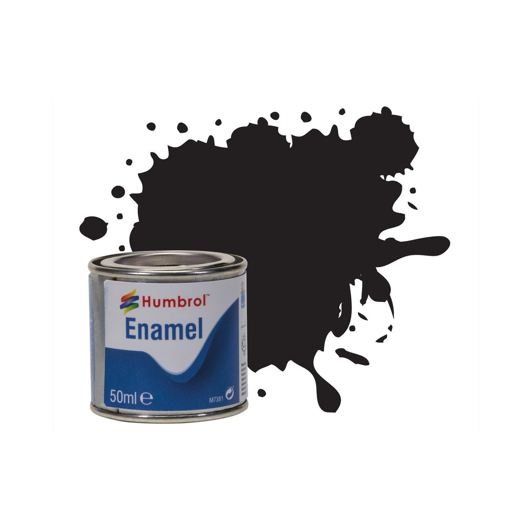No 21 Black - Gloss   - 50 ml Enamel Paints - AQ0021