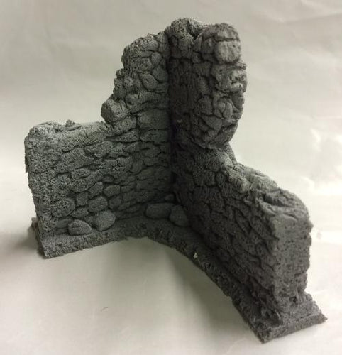 25/28mm Damaged Corner wall No.1 60mm x 50mm - BZB2