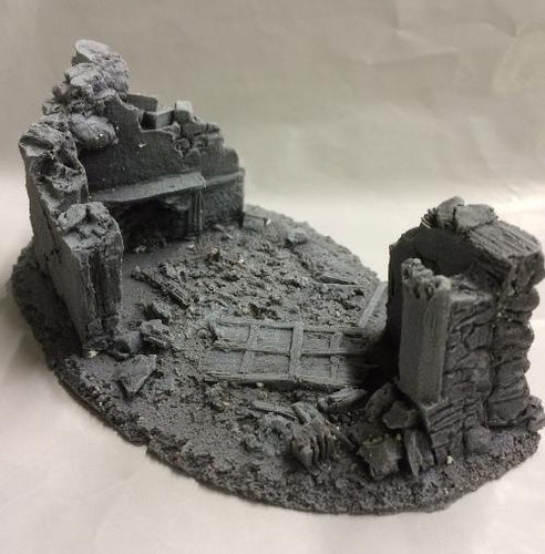25/28mm Small Derelict Building - Type 6 - BZB6