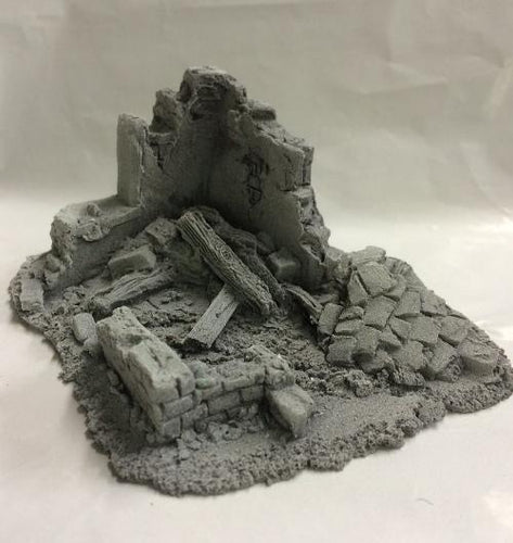 25/28mm Small Derelict Building - Type 7 - BZB7