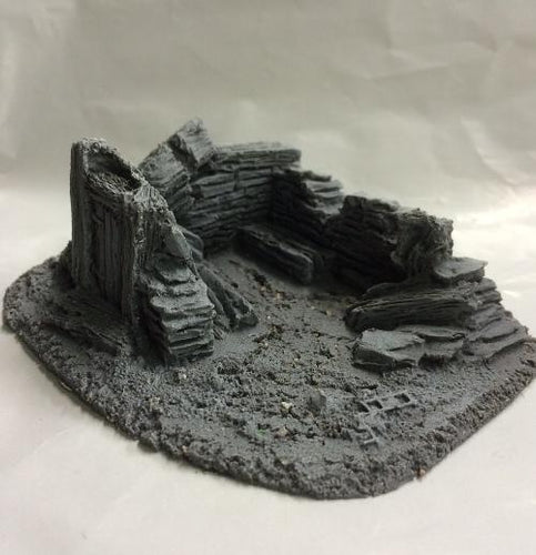 25/28mm Small Derelict Building - Type 8 - BZB8