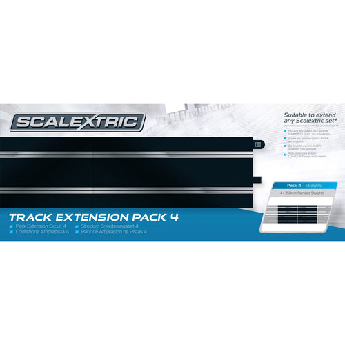 Track Extension Pack 4 - 4 x Standard Straights  - C8526 -Available