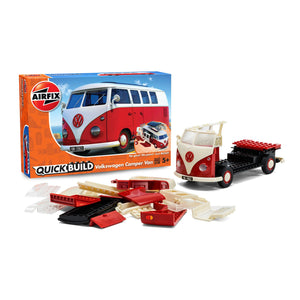 QUICKBUILD VW Camper Van - Red - J6017 -Available