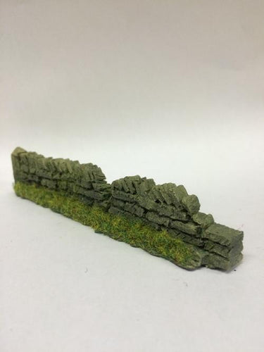 ROADSIDE DAMAGED DRY STONE WALLS -L.BROWN  - PW1LBDAM