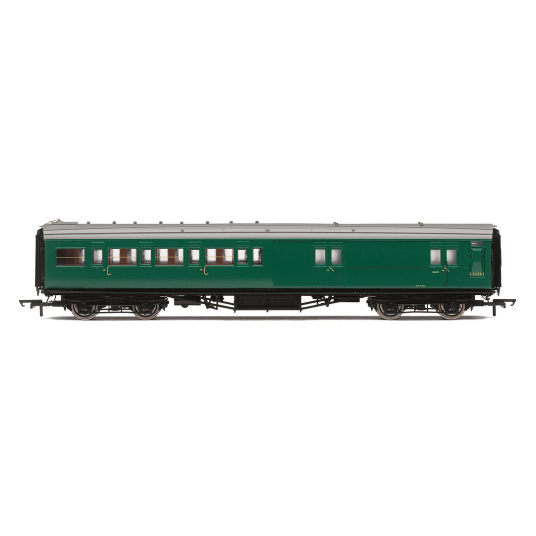 BR, Maunsell Corridor Four Compartment Brake Second, S3233S 'Set 399' - Era 5 - R4841 -Available
