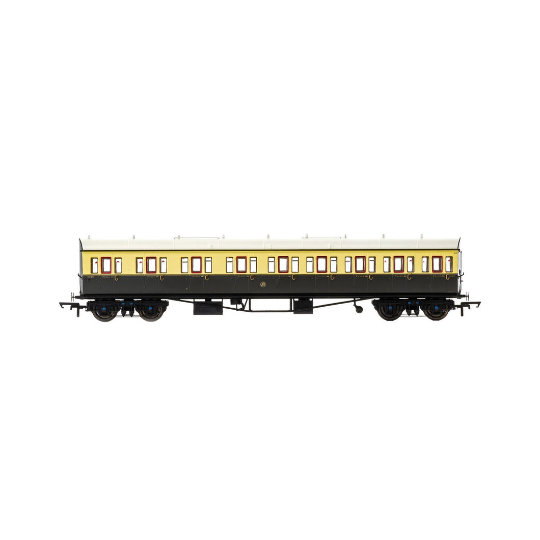 GWR, Collett 57' Bow Ended E131 Nine Compartment Composite (Left Hand), 6360 - Era 3 - R4874 -Available