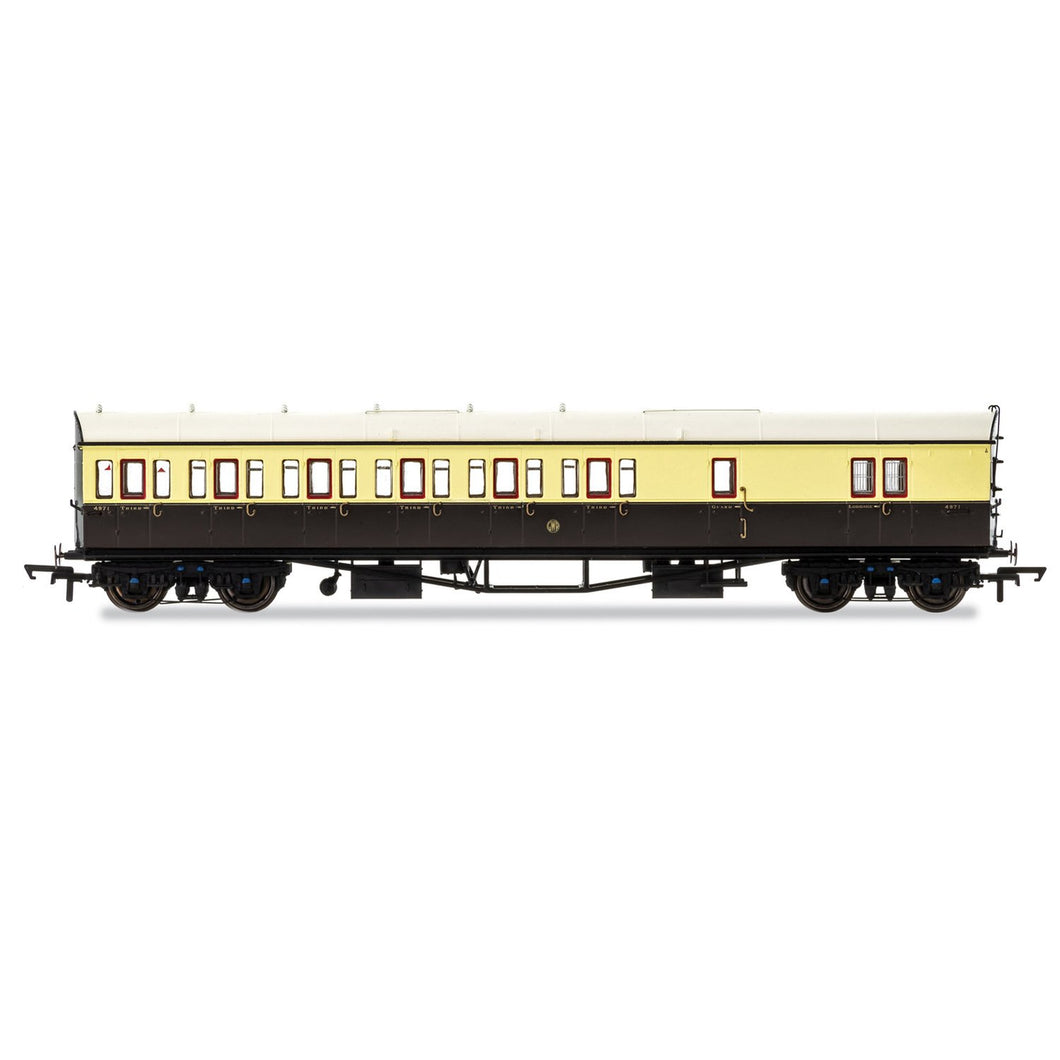 GWR, Collett 57' Bow Ended D98 Six Compartment Brake Third (Left Hand), 4971 - Era 3 - R4876 -Available