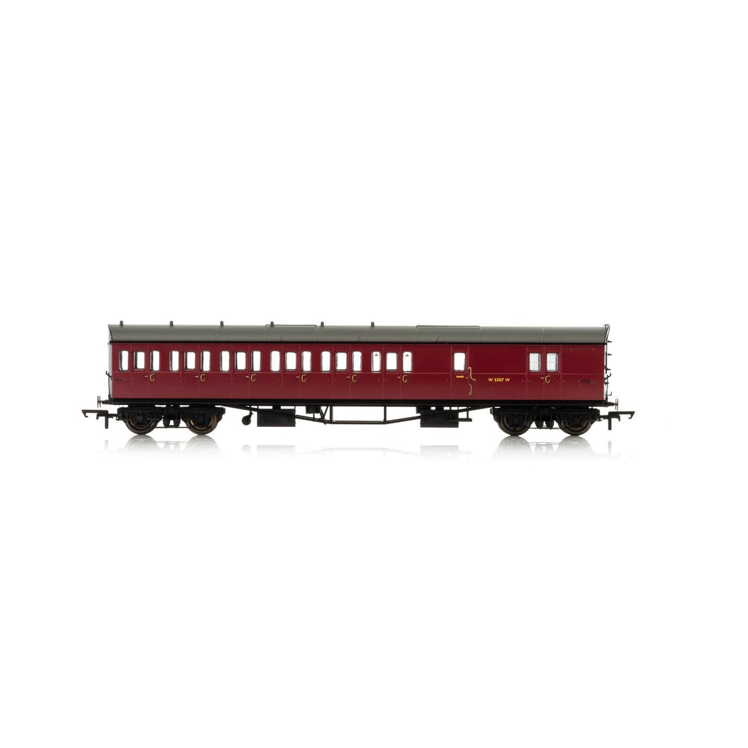 BR, Collett 57' Bow Ended D98 Six Compartment Brake Third (Left Hand), W4949W - Era 4 - R4880A -Available