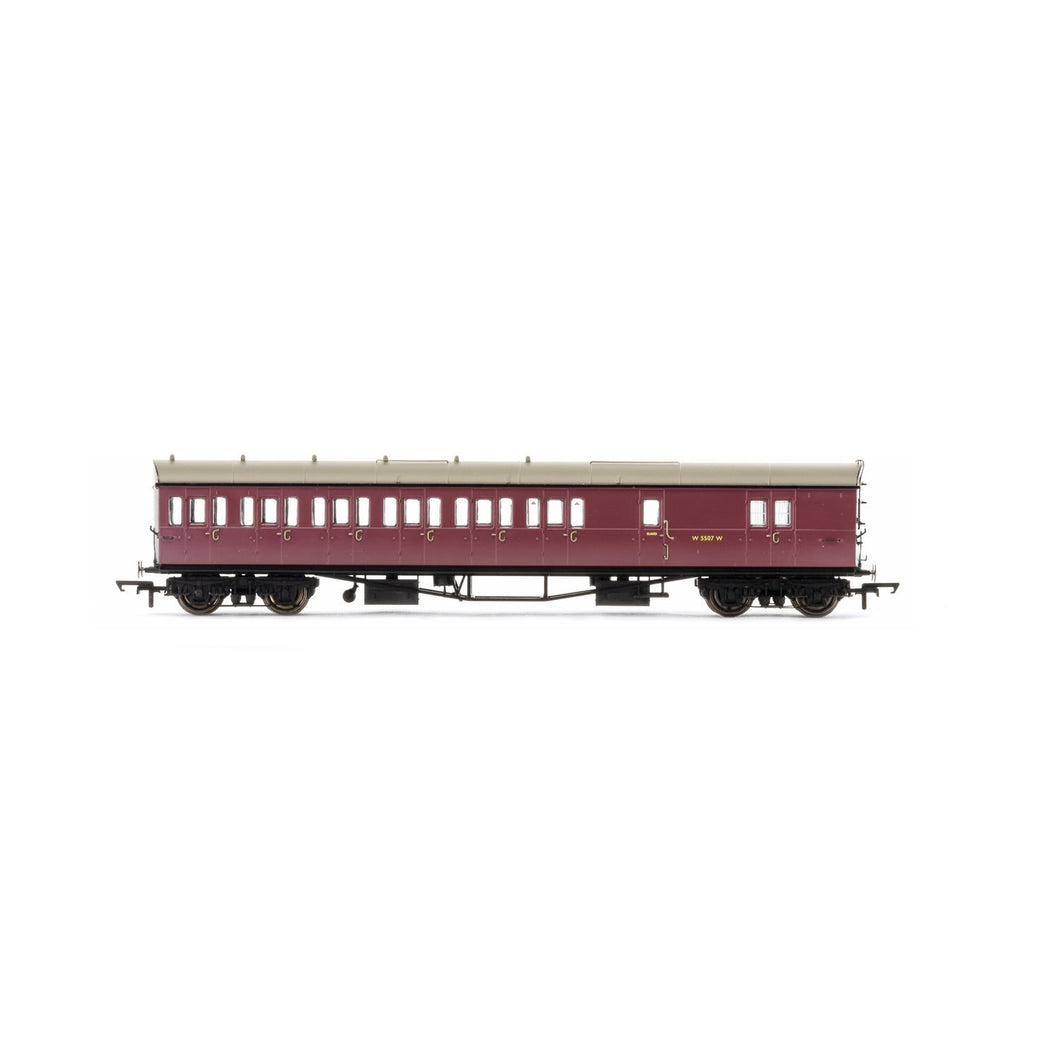 BR, Collett 57' Bow Ended D98 Six Compartment Brake Third (Left Hand), W5507W - Era 4 - R4880 -Available