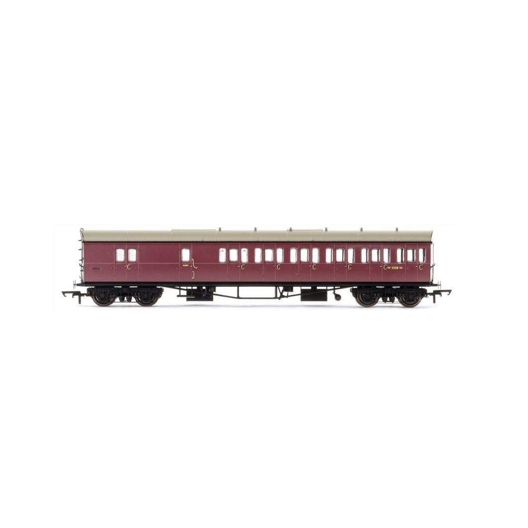 BR, Collett 57' Bow Ended D98 Six Compartment Brake Third (Right Hand), W5508W - Era 4 - R4881 -Available