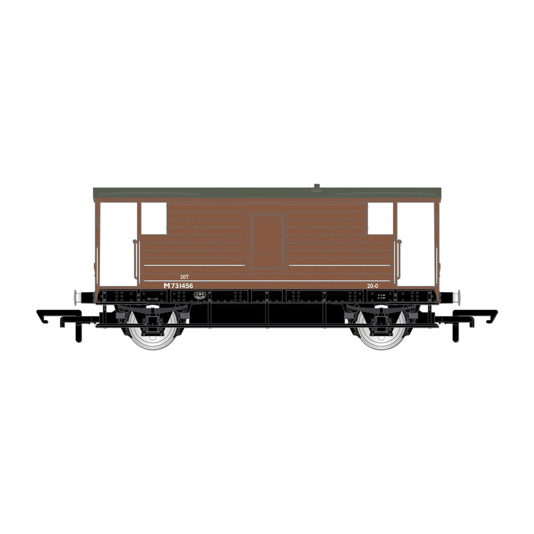 BR, D2068 20T Brake Van, M731456 - Era 4 - R6909 -Available