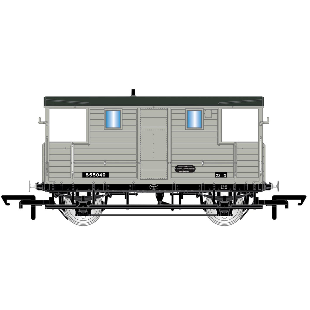 BR, 24T Diag. 1543 Goods Brake Van, 555040 - Era 4 - R6915 -Available