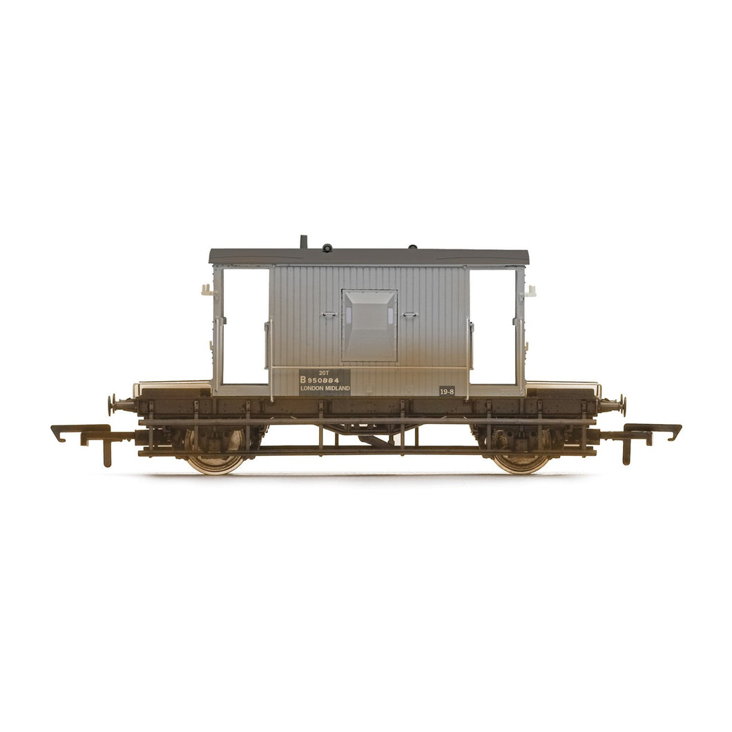 BR, 20T Brake Van (Weathered), B950884 - Era 6 - R6920 -Available