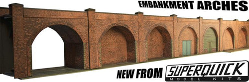 EMBANKMENT ARCHES- RED BRICK - NEW