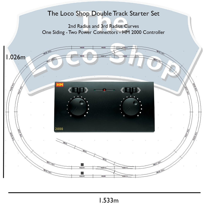 The Loco Shop - Double Radius - With HM2000 - TLS-DR-HM2000 -
