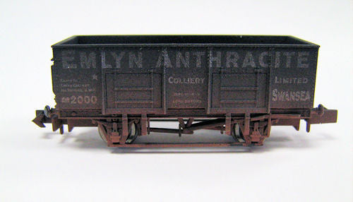 20t Steel Mineral Wagon Emlyn Anthracite Weathered
