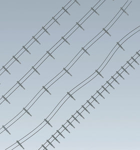 Iron Fence with Concrete Posts Kit 4m Wire 80 Posts I