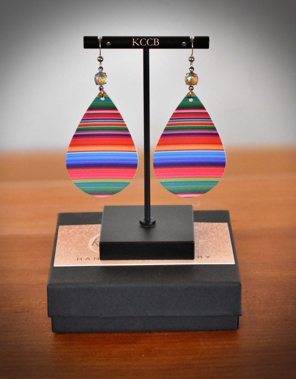 *New* Multi-color Serape Drop Earrings