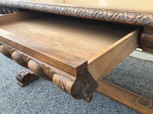 Antique Library Table Attributed to AJ Horner