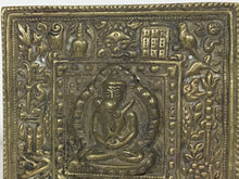Load image into Gallery viewer, Tibetan Brass Shakti Yab Yum Plaque Mount Early 20th Century